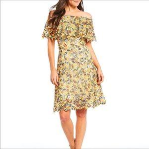 Alex Marie-Anna Off the Shoulder Lace Floral Dress